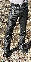 Max leather jeans