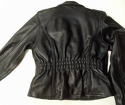 stagg ladies leather jacket with braid